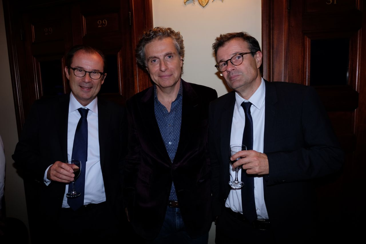 Jean Pierre Marois avec les frères Matei