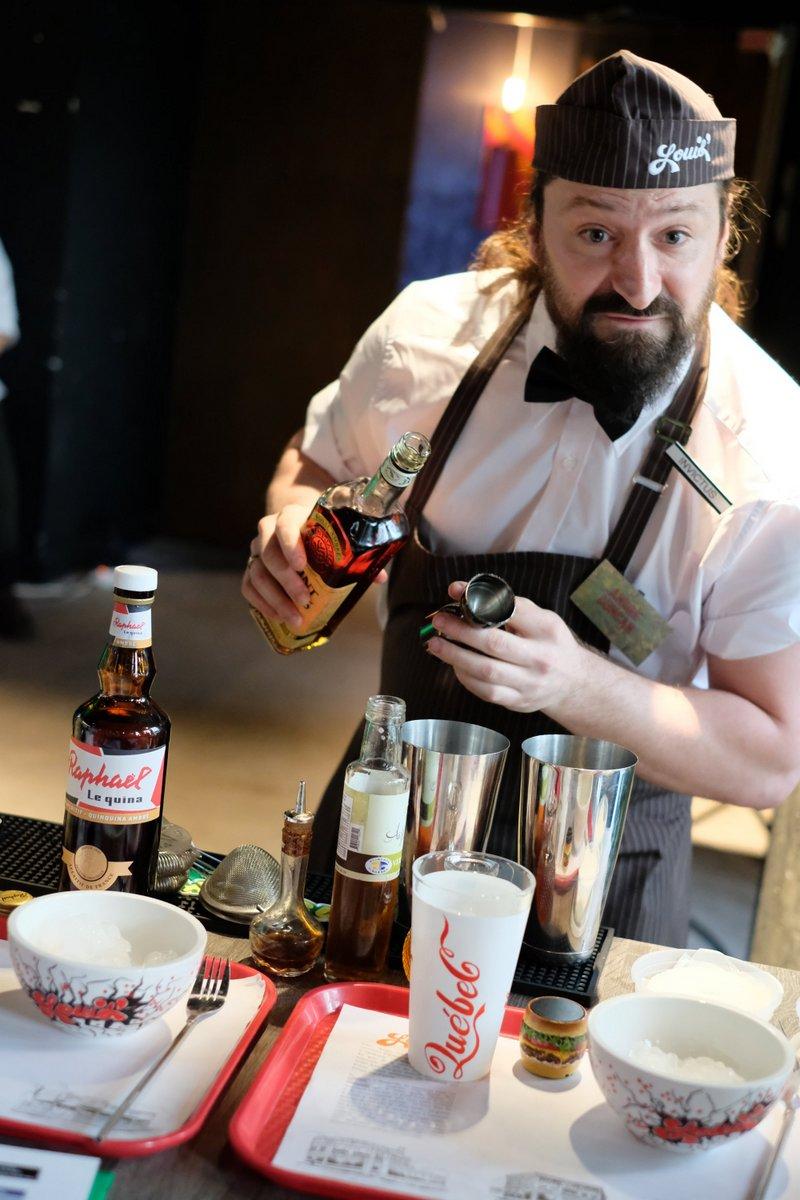 Duncan vient du Québec pour la Bar Tender Society
