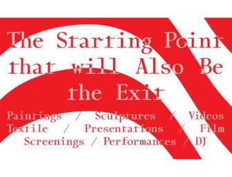 The Starting Point that will Also Be the Exit