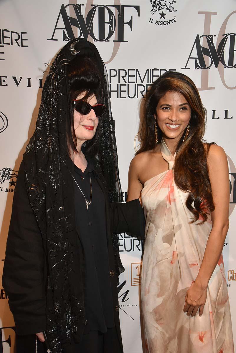 Diane Pernet et la jolie Sponsor Sanghamitra parfumeuse
