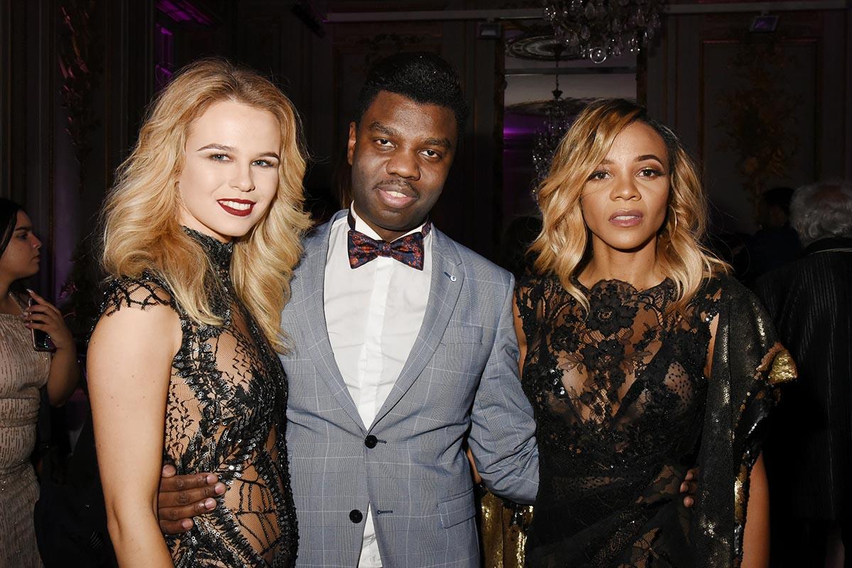 Bokassa avec Julie Jardon et Louisy Joseph deux blondes A croquer