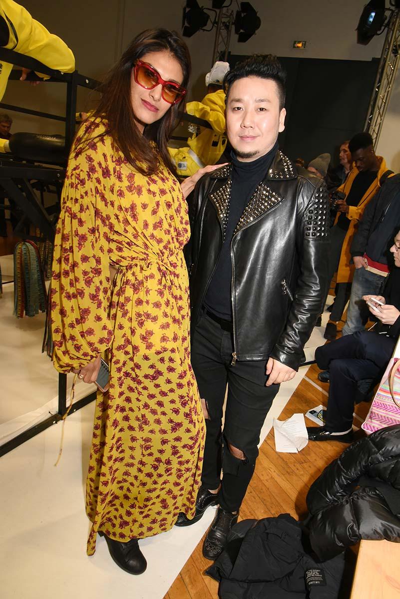 model Abigail Lopez avec Jean Song