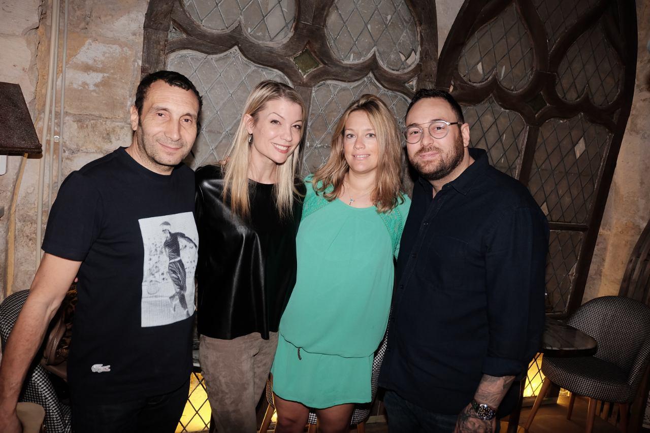 Zinedine Soualem est venu chez Ikone avec Caroline Faindt et Claire Verneil