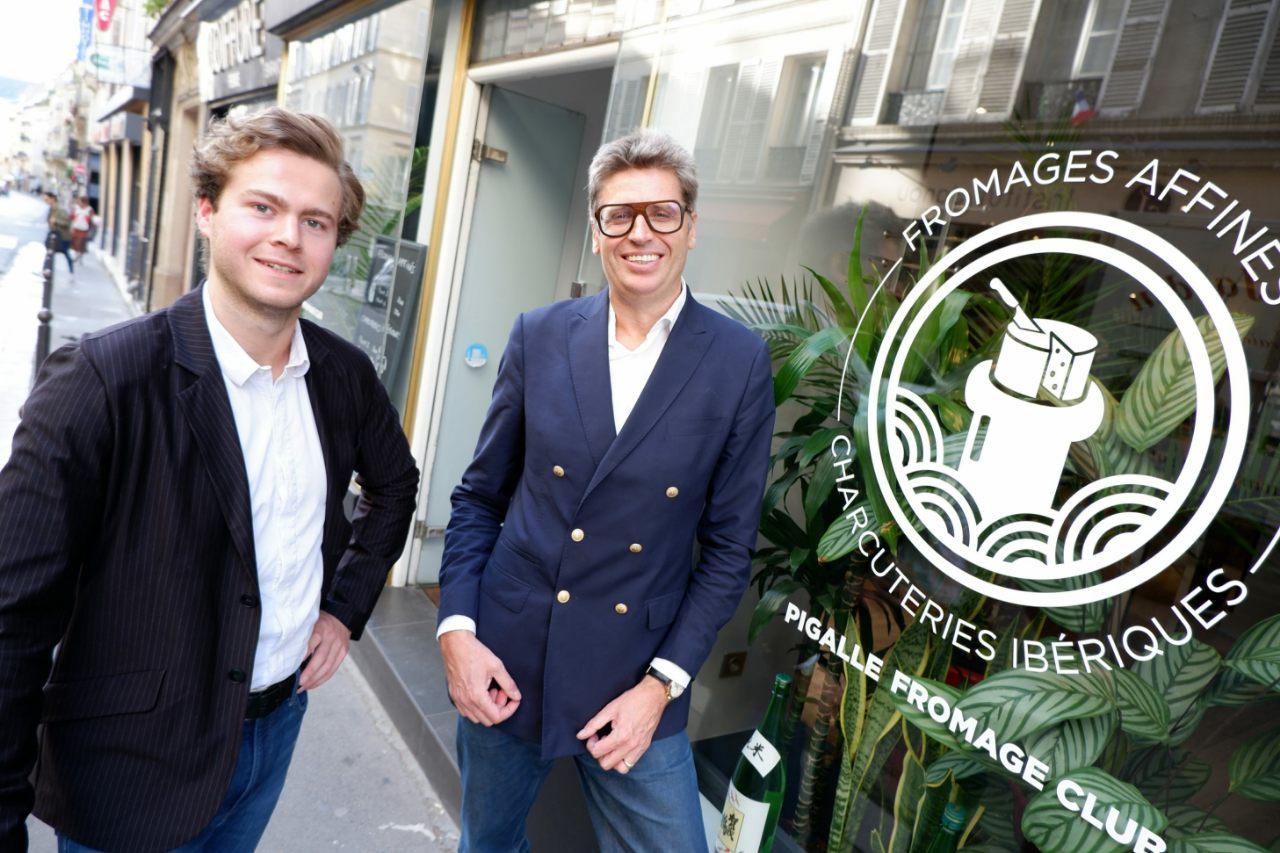 Raphael de Rohan Chabot et Yves de Roquemaurel  fondateurs du Pigalle Fromage Club