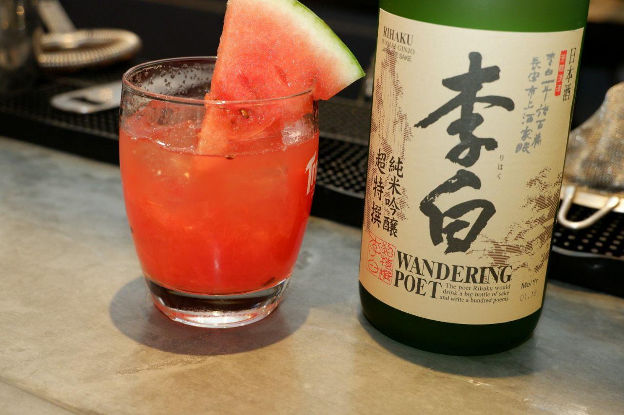 Le cocktail pasteque Saké un must