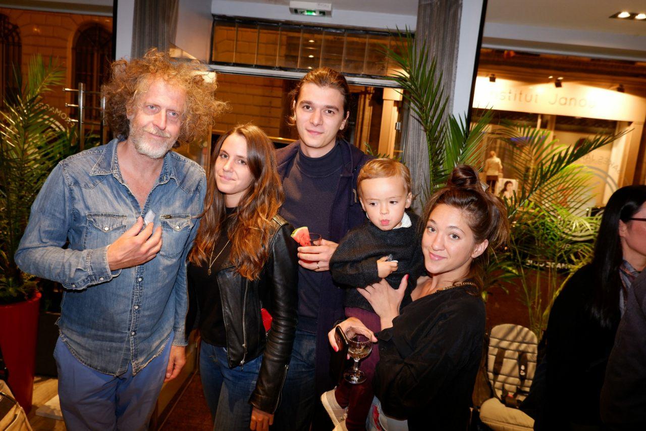 Fabrice , Aurélie et Julie Peugeot avec Melchior