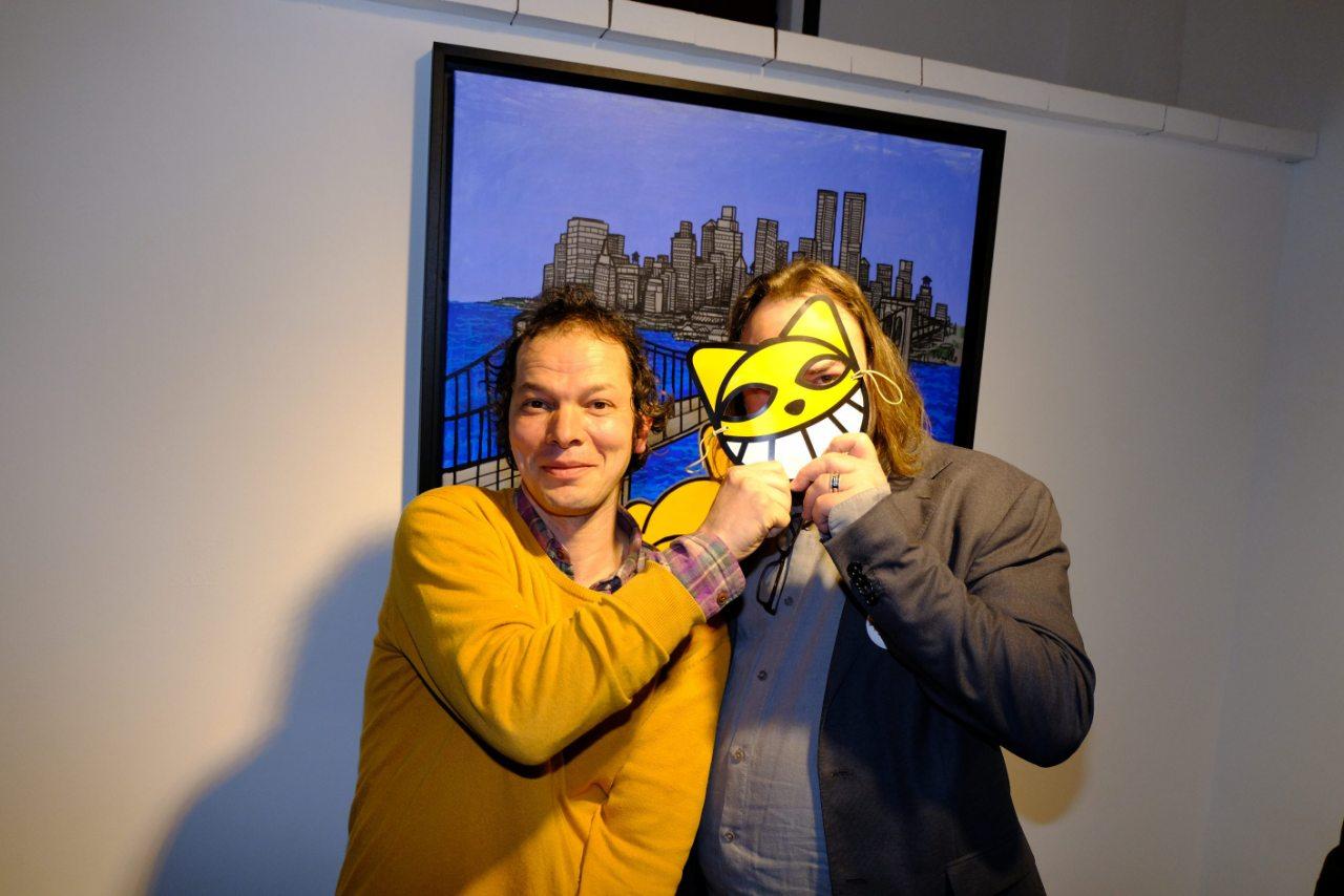 M Chat et le galeriste masqué (Eric)