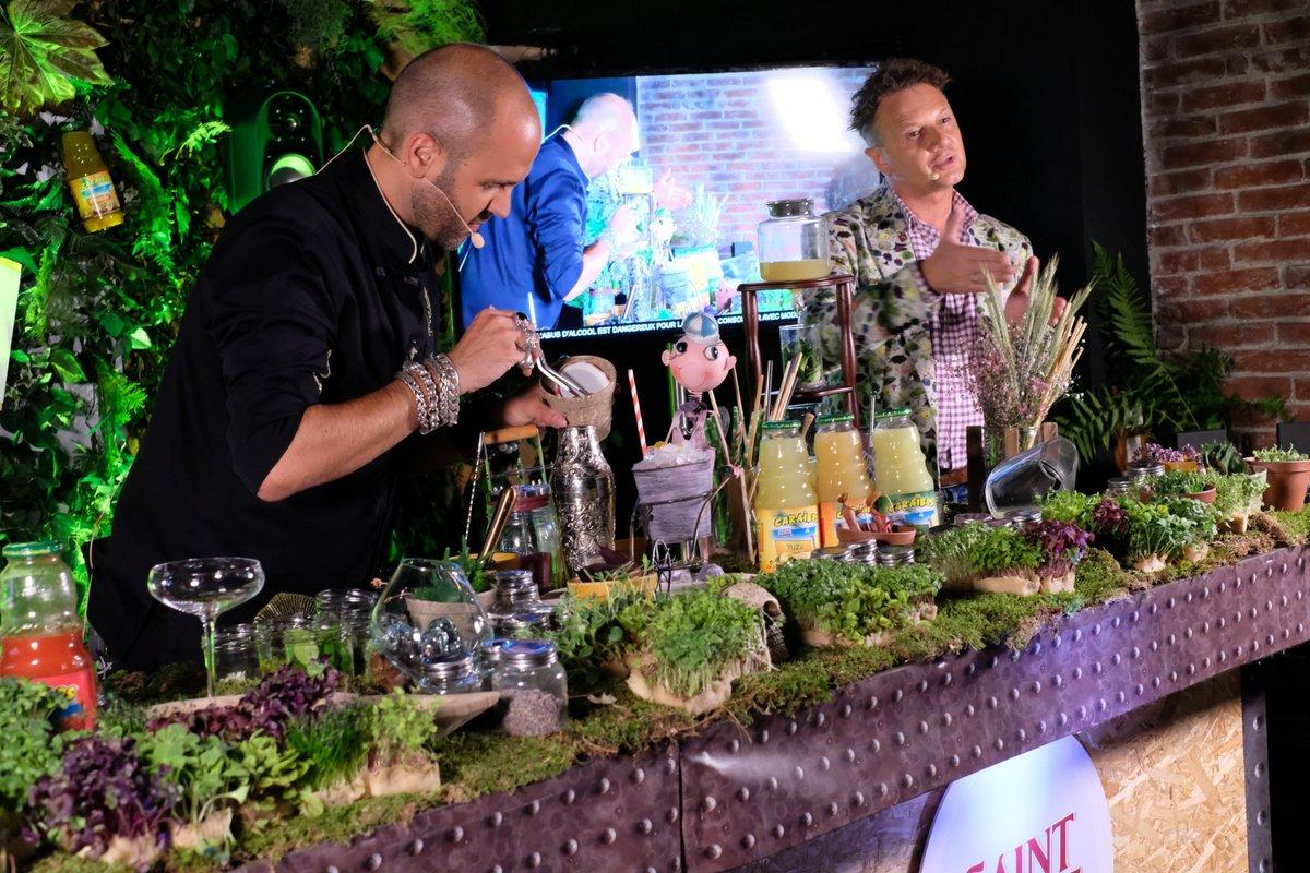 Mathias Giroud le grand manitou du Buddah Bar a invité Paul pour une master class sur les mini plantes aromatiques