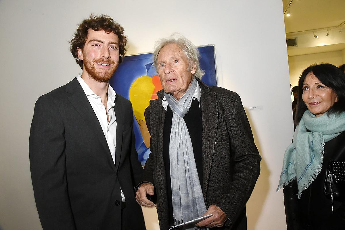 Tancrede Hertzog pose avec le grand Peter Klasen !