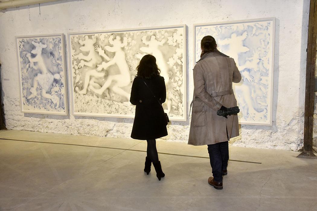 Expo Aerosoltherapie a L'Espace Topographique de L'Art: Ambiance avec le travail d'Hippolyte Hentgen