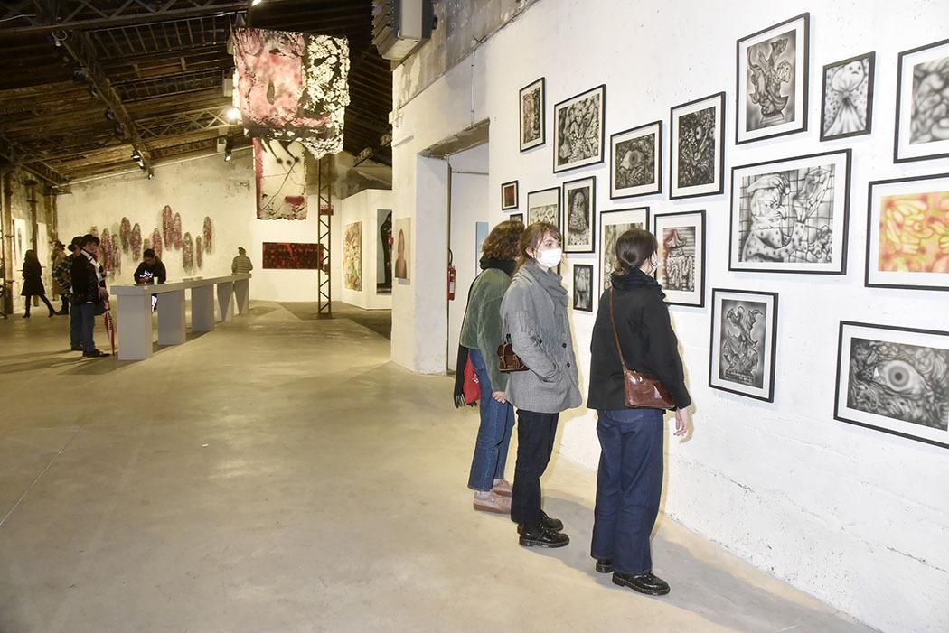Expo Aerosoltherapie a L'Espace Topographique de L'Art : Ambiance avec le travail de Shoboshob