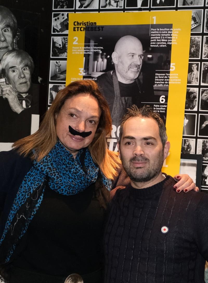 Ysabel Castela et le second de la Cantine du Troquet paris 15 eme
