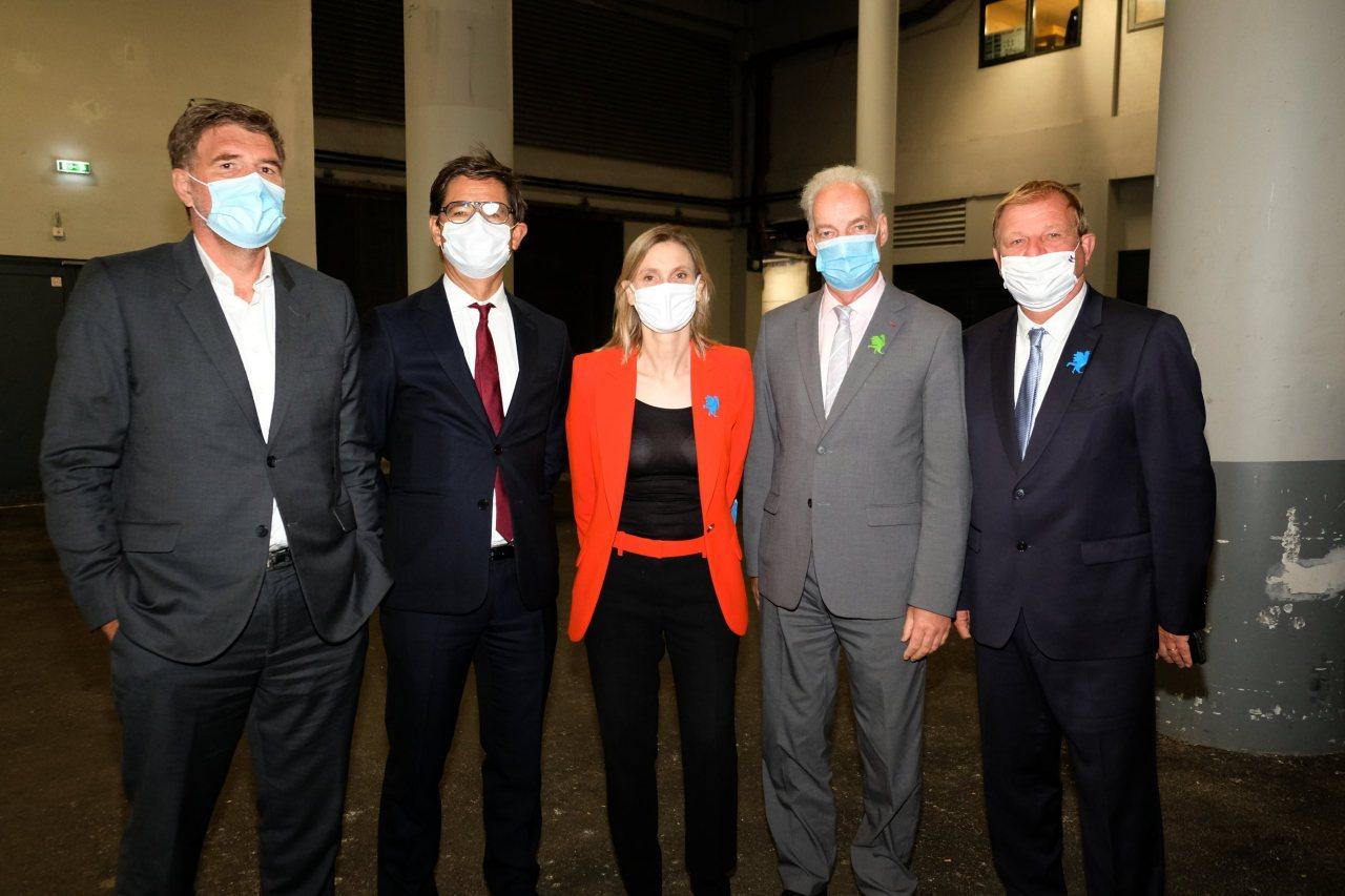 Paul francois Fournier, Nicolas Dufourcq, Agnés Panier Runachon ministre de l industrie, Alain Griset ministre des PME et Patrice Bégay