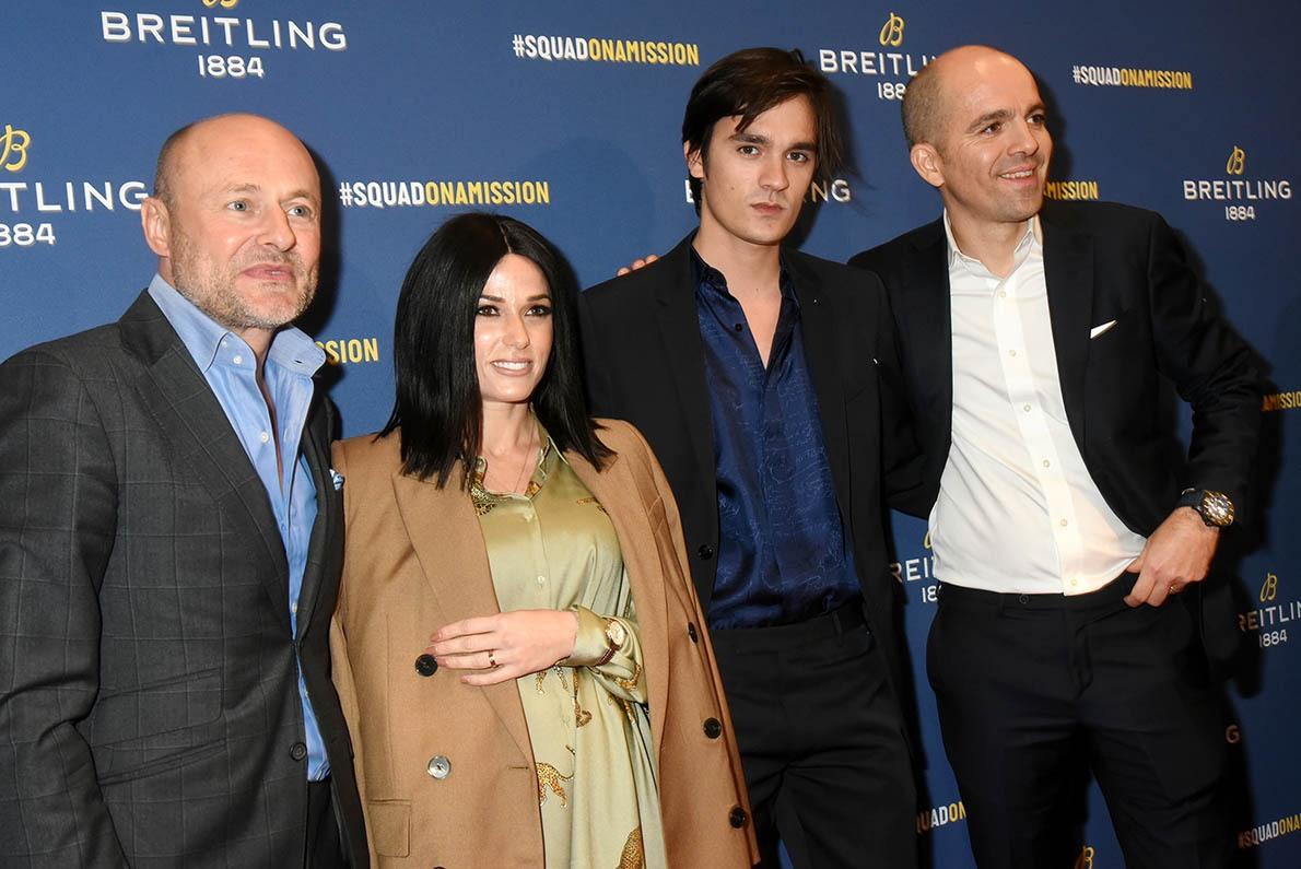 Georges Kern et Edouard d'Arbaumont les boss de chez Breitling pas peu fiers de recevoir Alain Fabien Delon et Capucine Anav