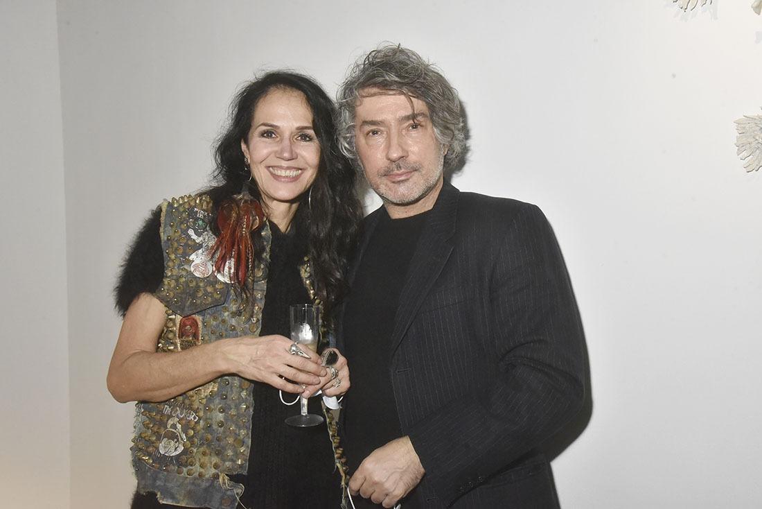 Catherine Wilkening et le galériste Bruno Blosse Lou le boss de Loo and Lou