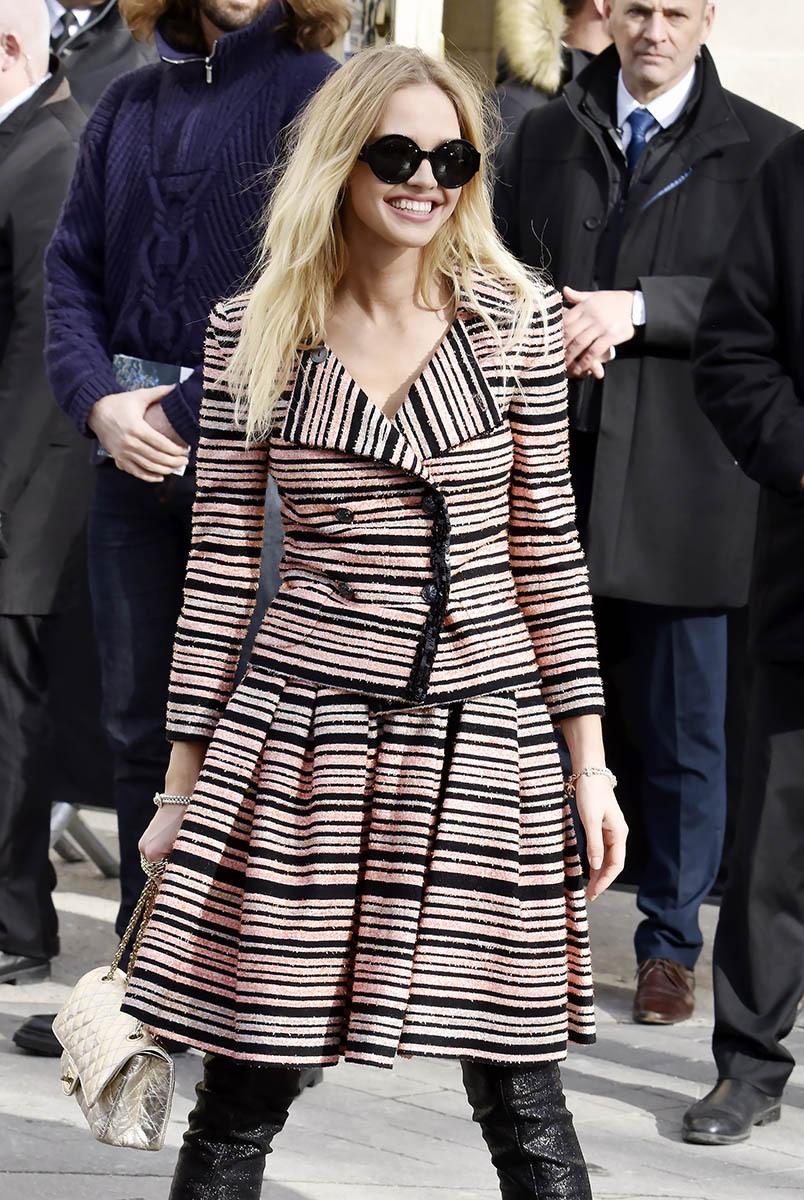 La Pan-pan girl de Luc Besson, Sasha Luss chez Chanel va tout schuss!