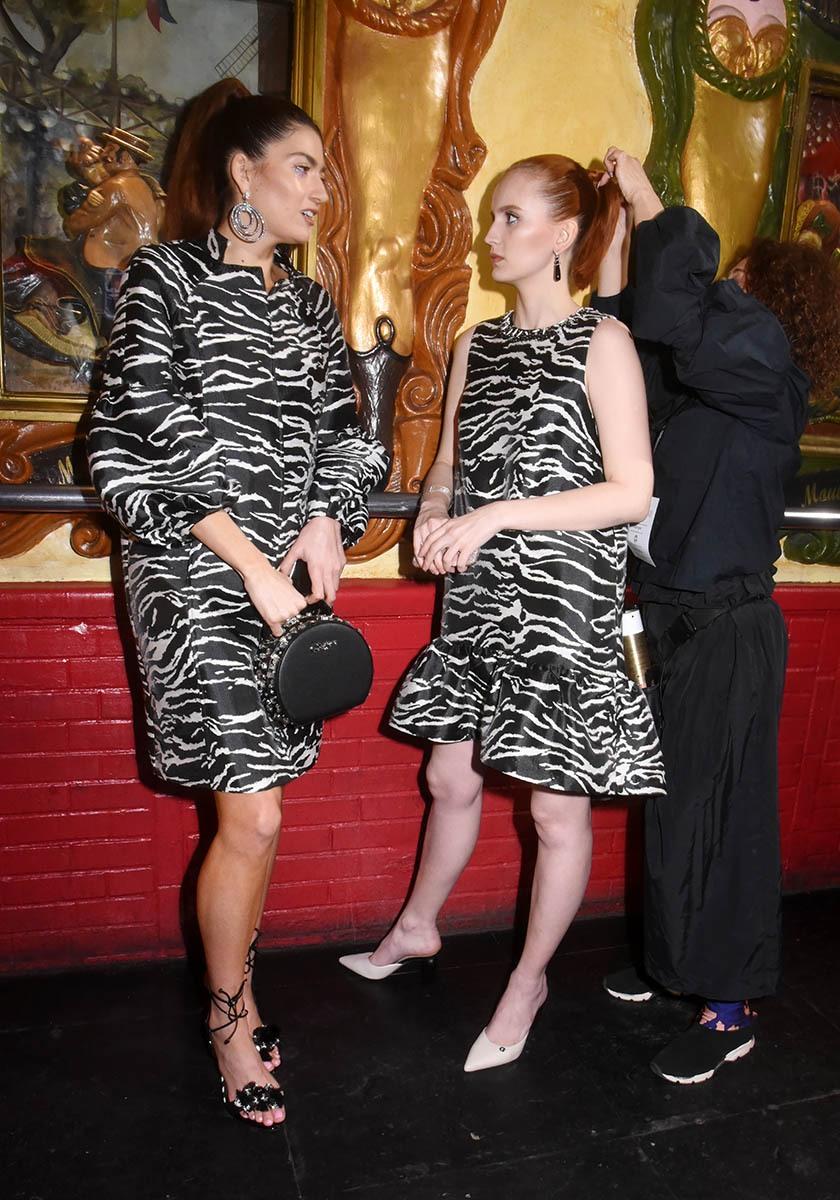 Blanca Blanco et Agatha Maksimova en mode Zébresses du Balajo