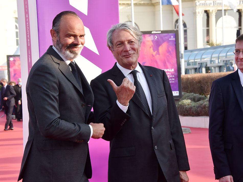 Le maire de Dauville Philippe Augier et le maire du Havre Edouard Philippe copains comme normands