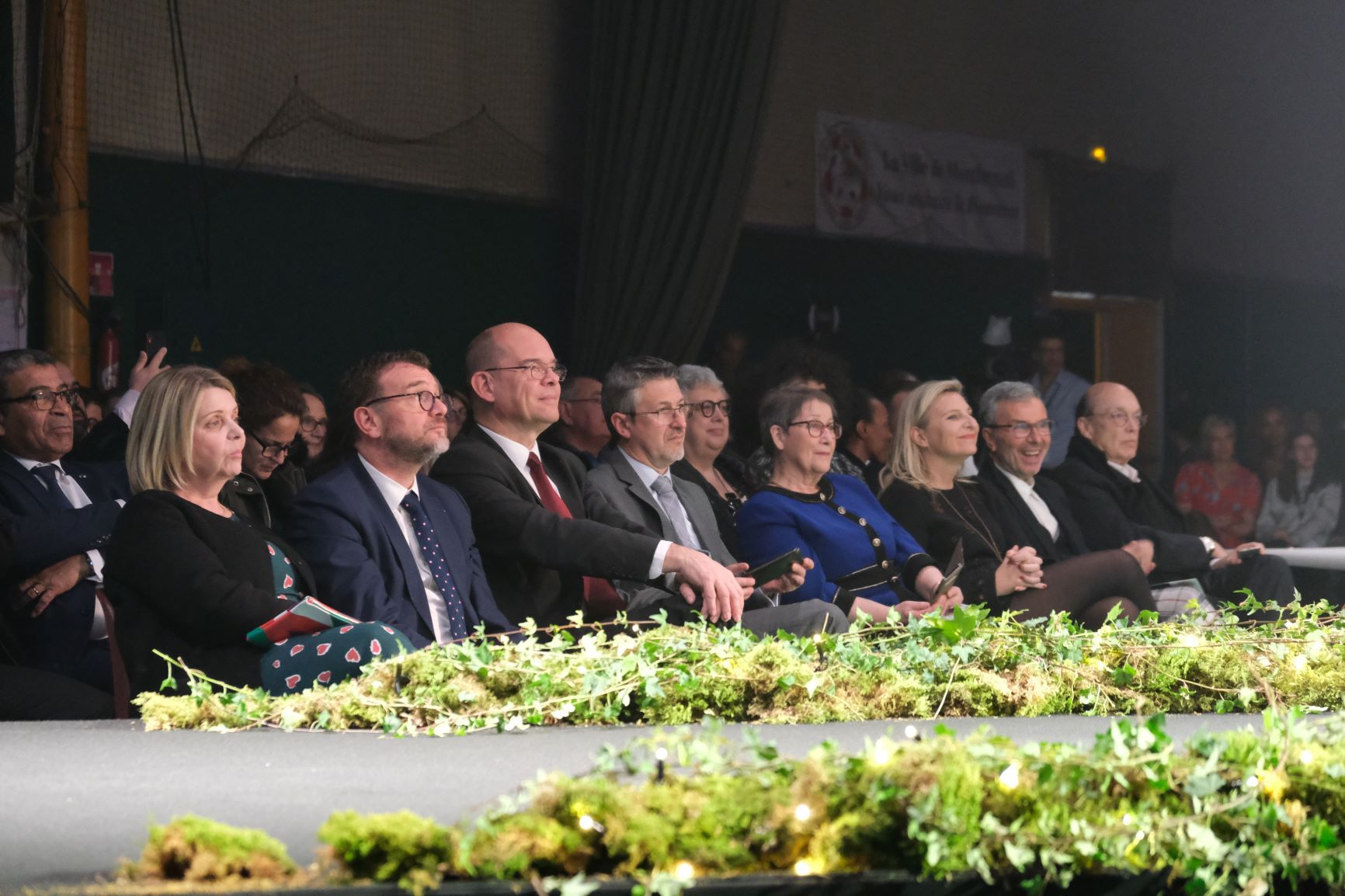 Les officiels en first row autour de Xavier Lemoine