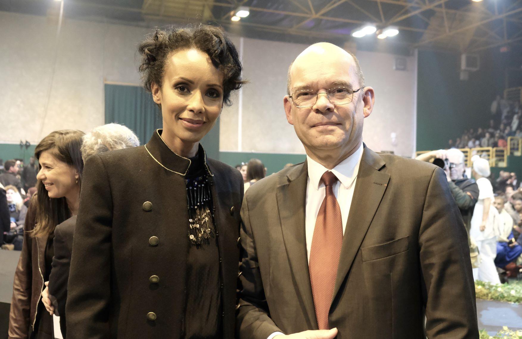 Sonia Rolland et Xavier Lemoine maire de Montfermeil