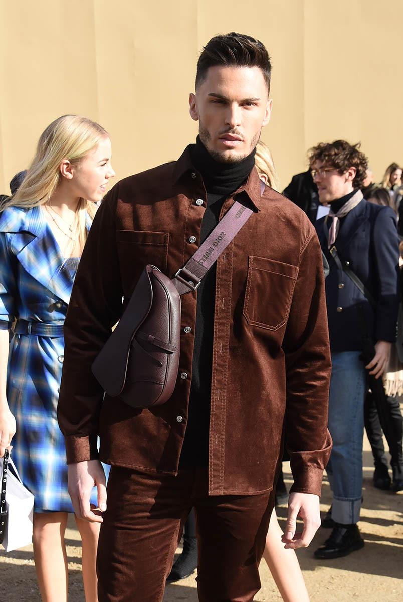 Baptiste Giabiconi en mode garde-chasse