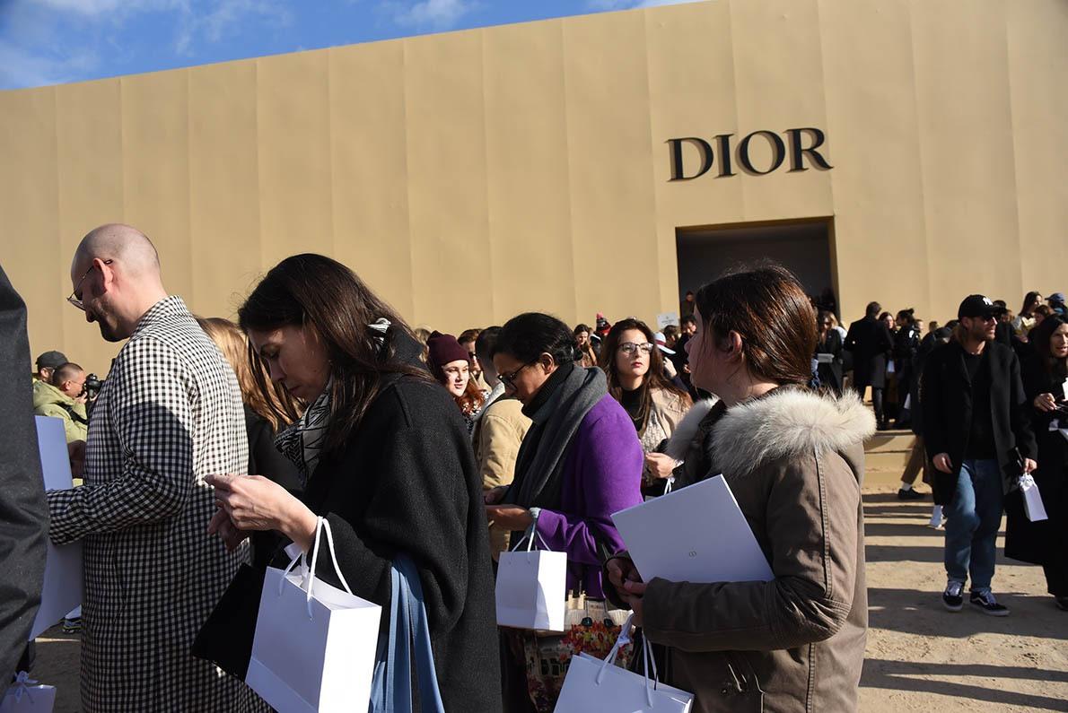 On repart du show avec des Diory bags
