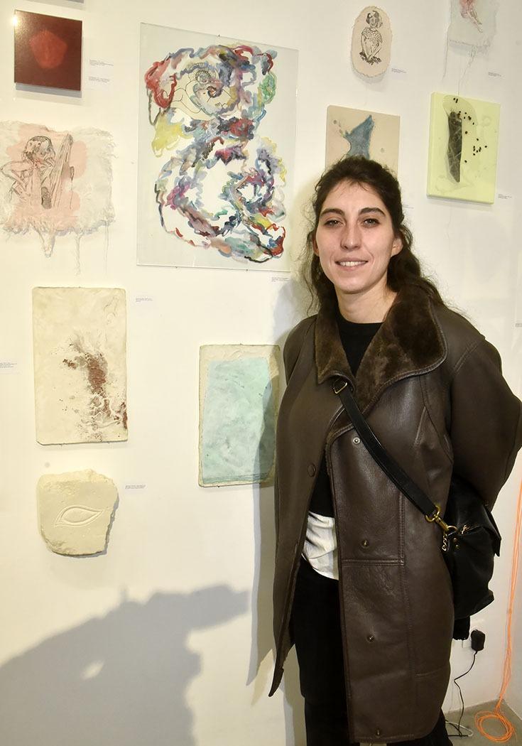 Alexia Chevrollier tapisse à l'expo