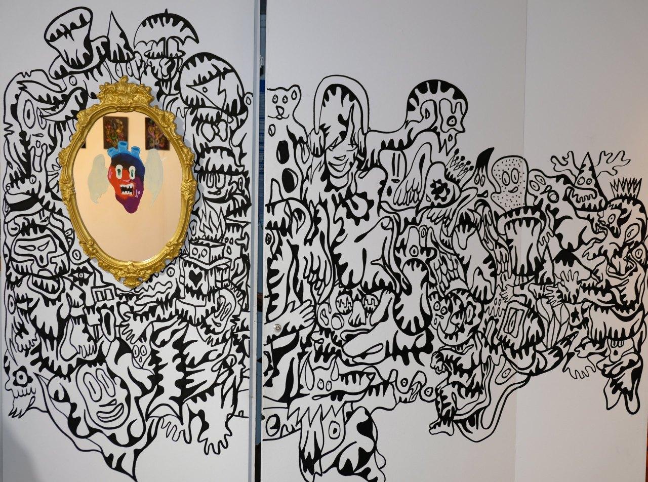 Incursion sur les murs de la galerie Brugier Rigail