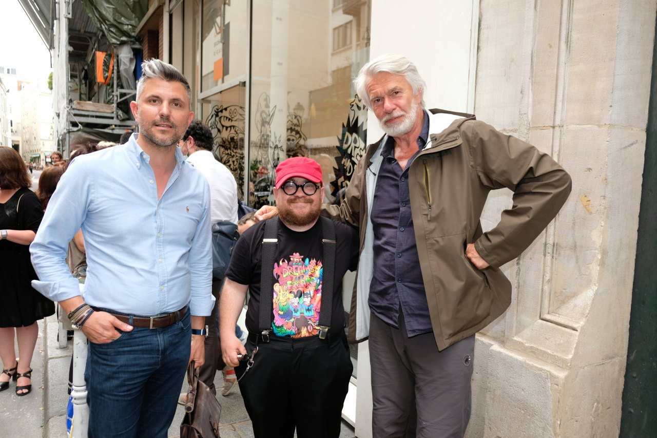 Fabien avec Luc Memieux et un ami