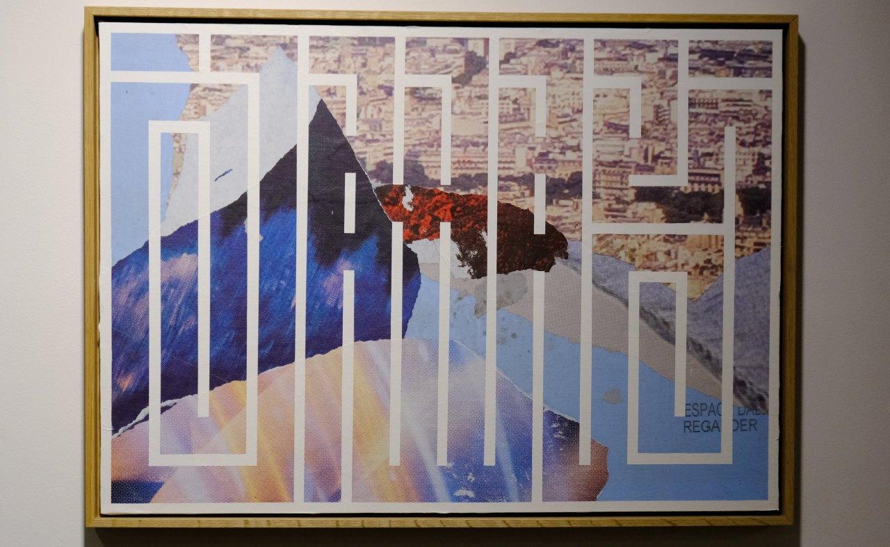 Collage d affiches et lignes au ceurs de cette expo de rentrée