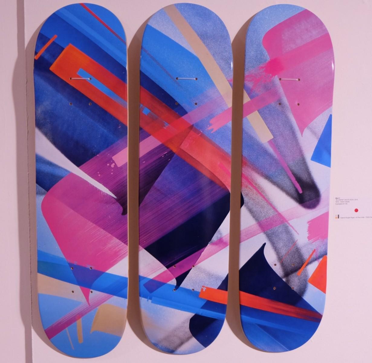 Cette série de planches de Skate