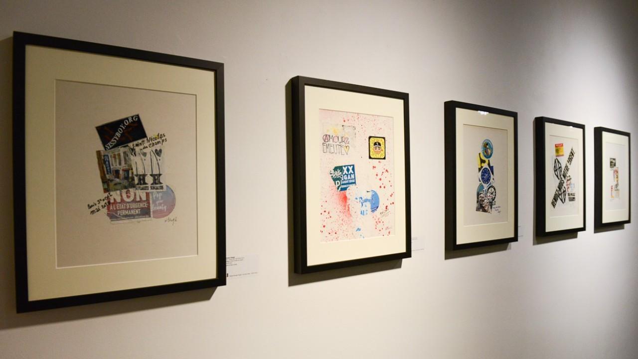 Beaucoup de pieces de divers artistes, avec comme fil conducteur le  support papier.