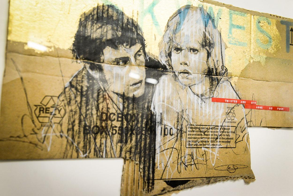 les portraits sur carton de Guy DENNING, saisissant!