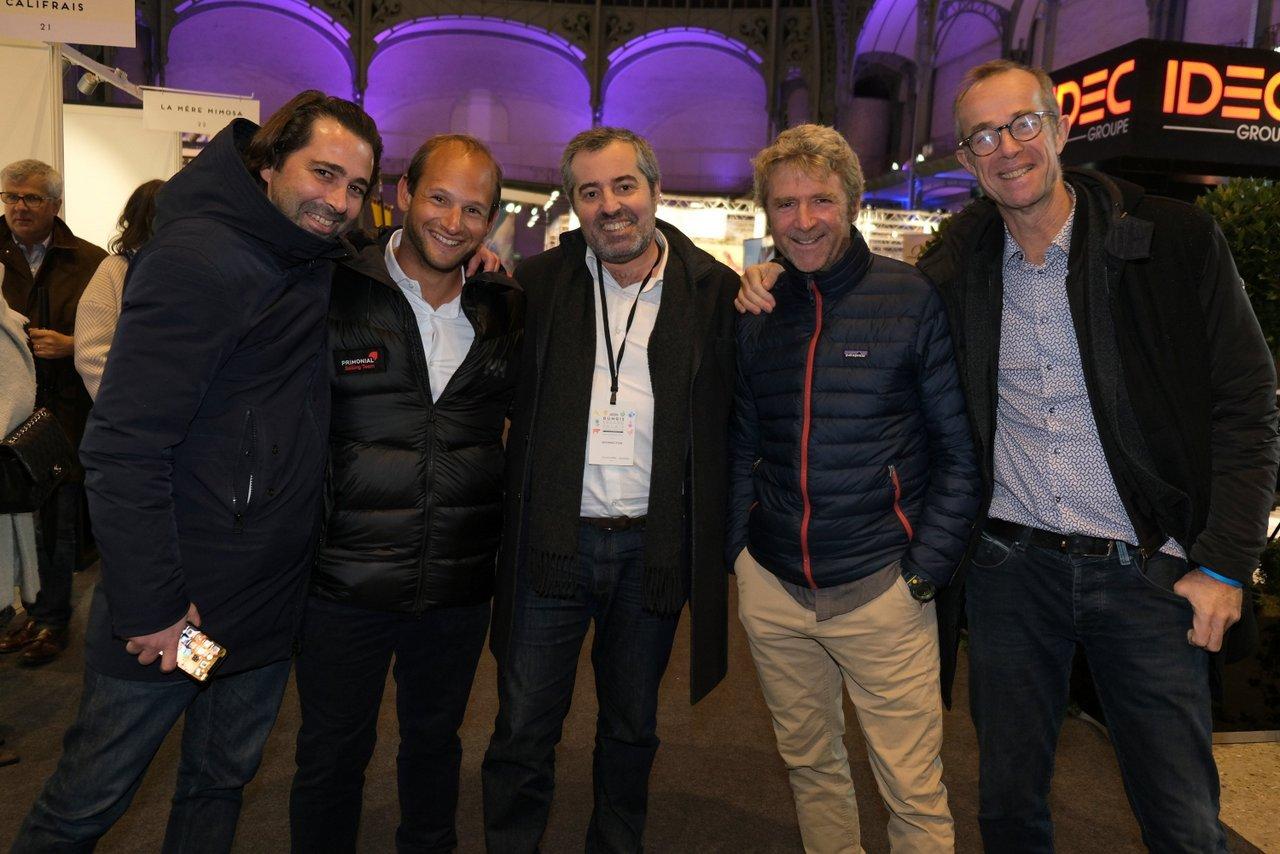 Jacques, Sébastien Rogues, Arnaud Baudry d'Asson , Yann Eliés et son manager