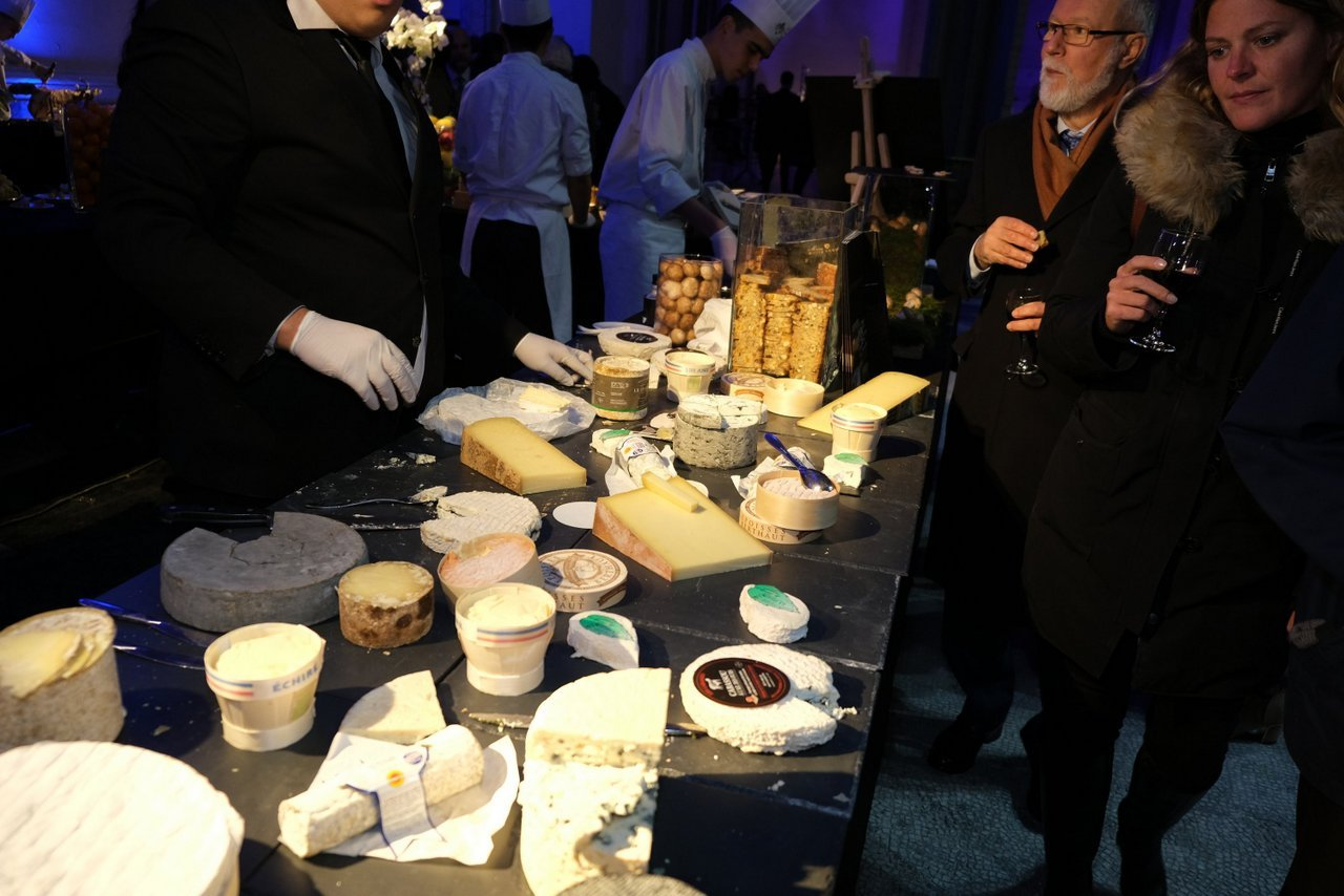 Bruno Dumon,t d Interfel au stand fromages