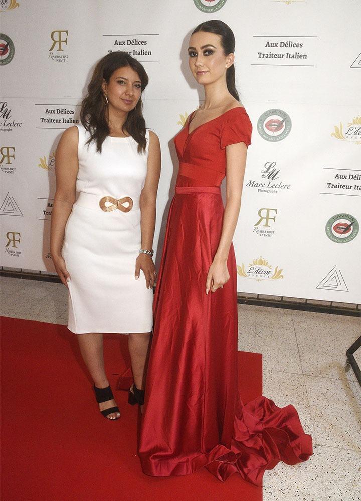 Zohra Amara pour Indissa na pas à rougir de sa robe que porte la Model Ilona Le Goff