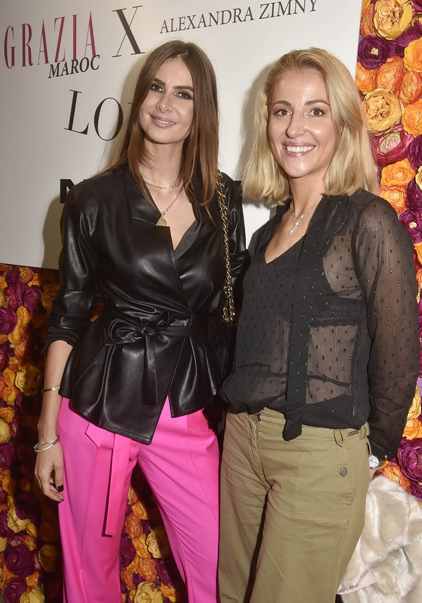 Alexandra Zimny avec sa copine bloggueuse Dorothee Dutheil