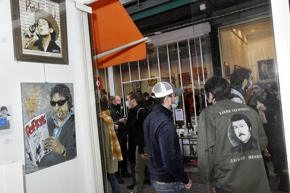 Des Gainsbarres « en veux tu en voilà » par Yarps qu'on reconnait de dos par son « Jack Mesrine » jacket