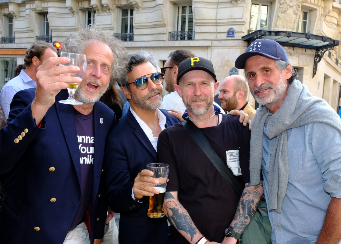 Fabrice, Laurence, Thierry et un ami