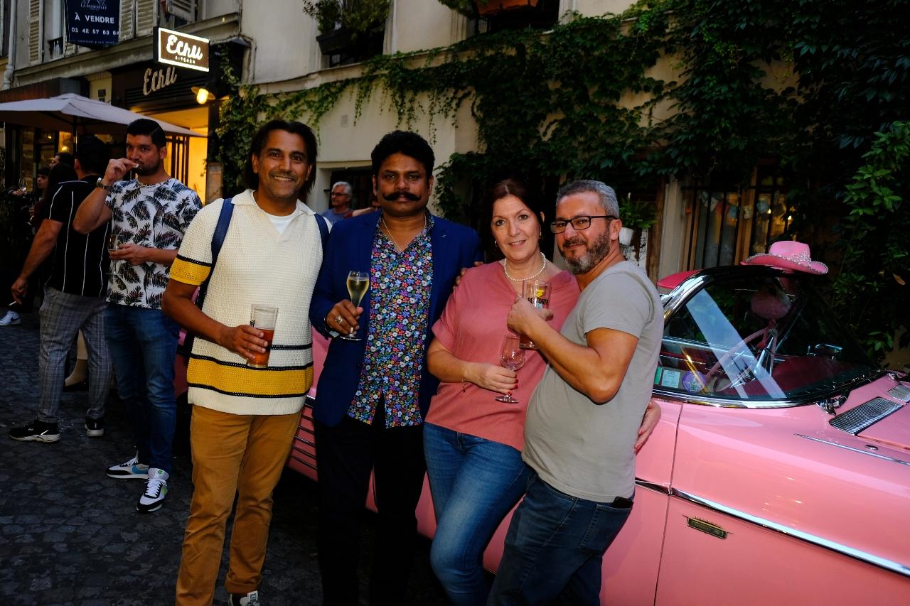 La rue Audran prend des airs de Havane avec la magnifique Cadillace Rose