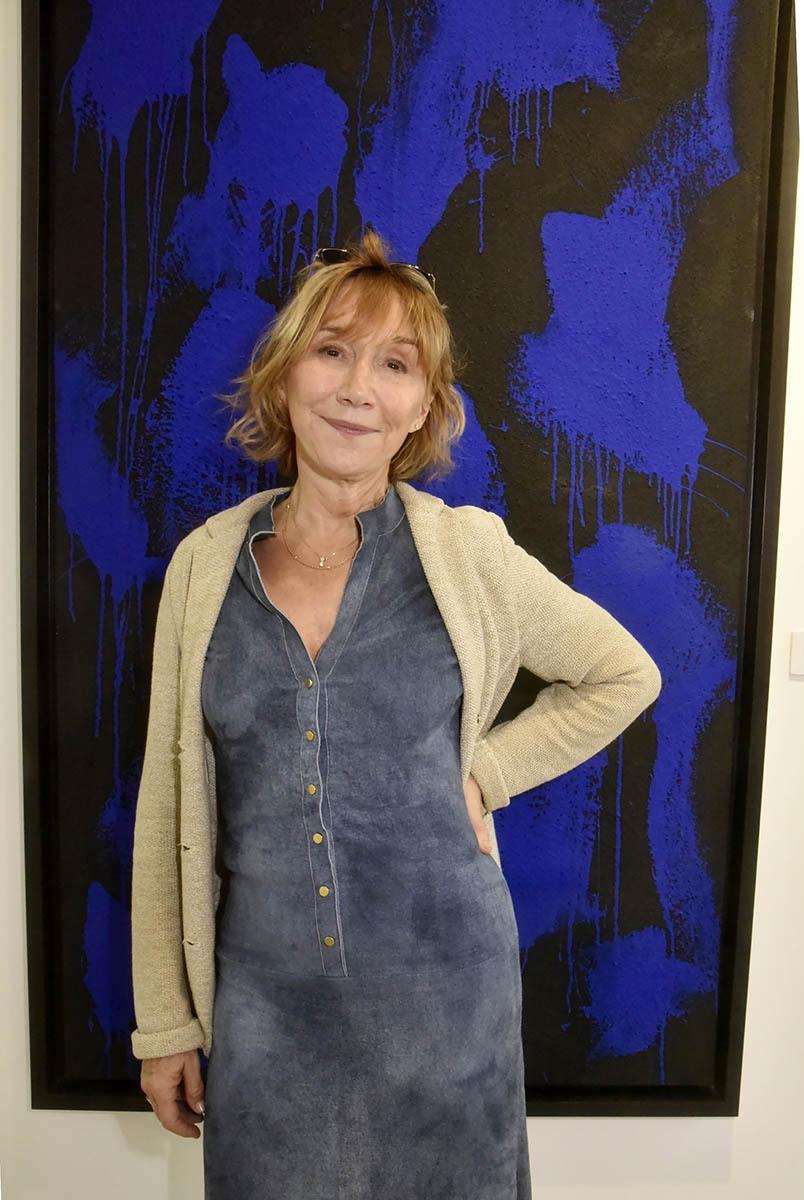 JonOne sest inspiré de Marie Anne Chazel pour sa période Bleu Klein