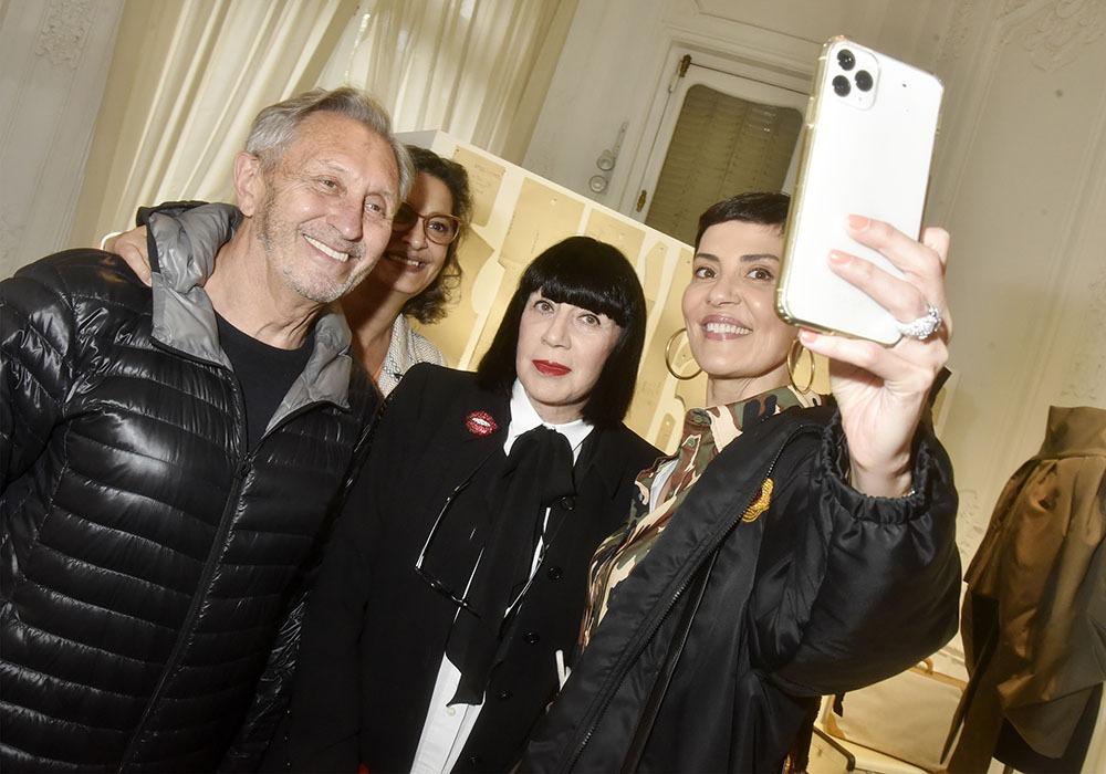 Avec Angelo Tarlazzi Ceyla Lacerda Chantal Thomass Cristina Cordula fait un quadrifie