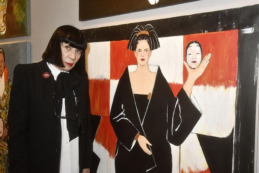 Chantal Thomass son portrait et sa frange revisitée par Kenzo Takadass