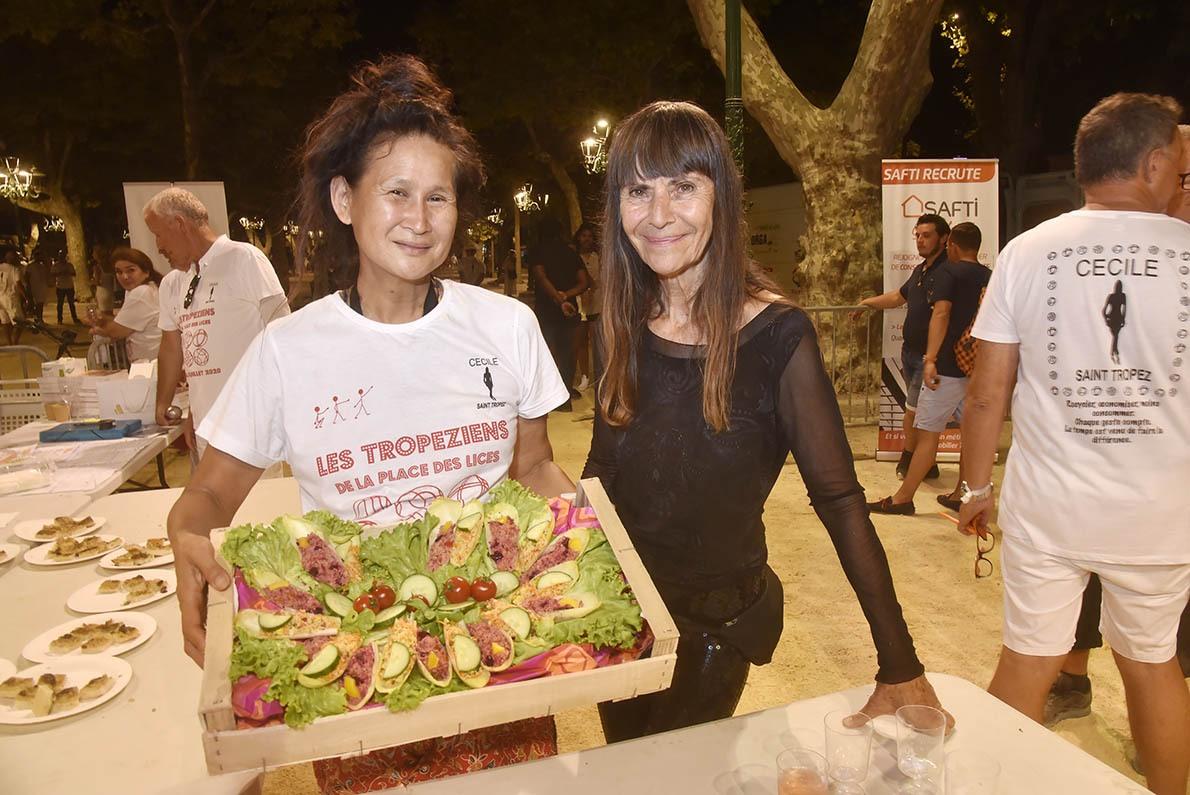 Litta Chow Yuen et Cécile une des Bio sponsors de la Tropézienne