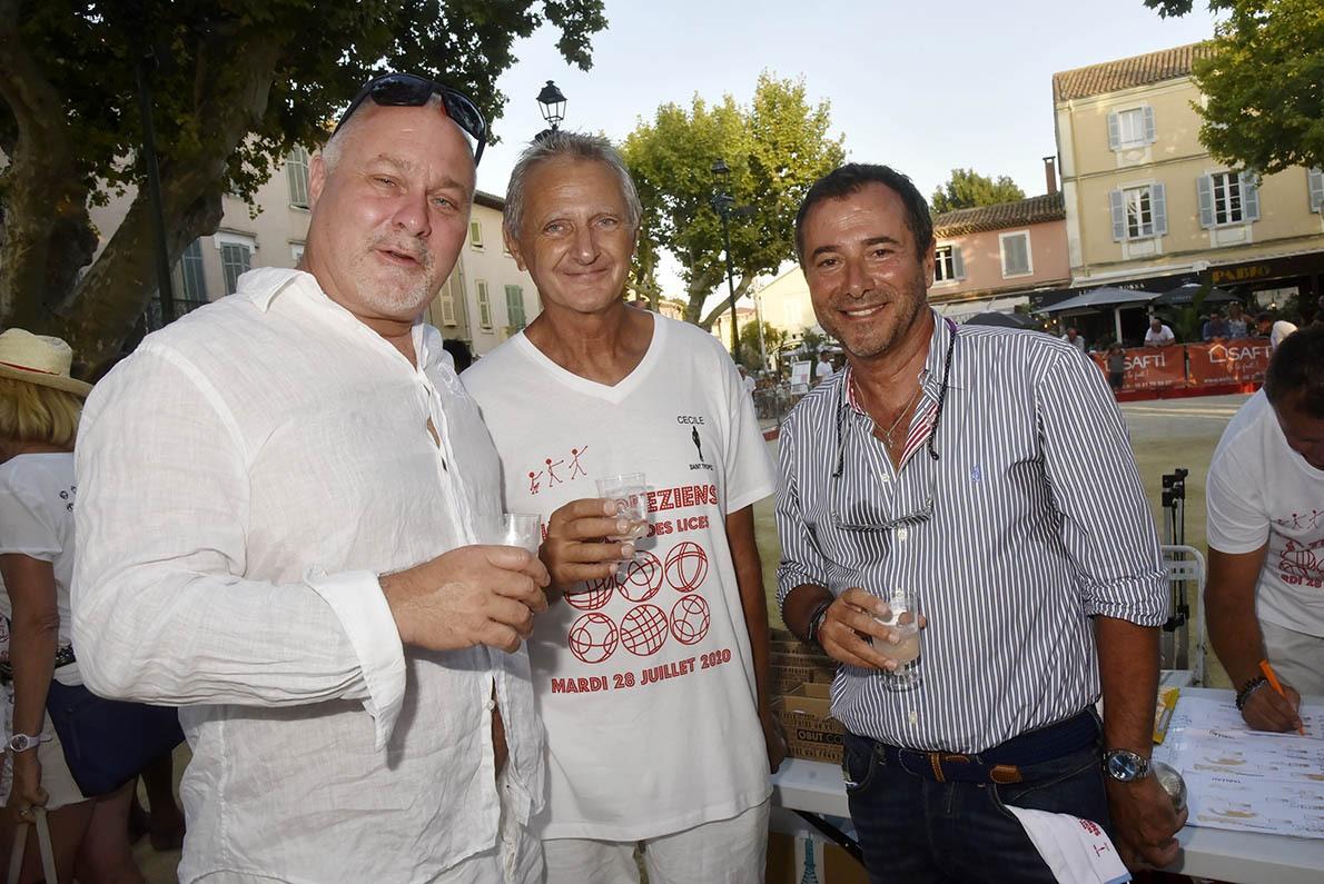 Olivier Muller de la «Fight Night» Gilbert Fasola ex président de la Tropézienne et Bernard Montiel
