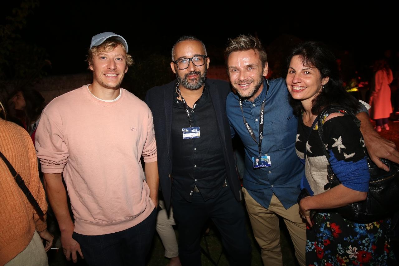 Geremy Credeville,Tarik-Seddak,Jean-Philippe-Janssens et une amie