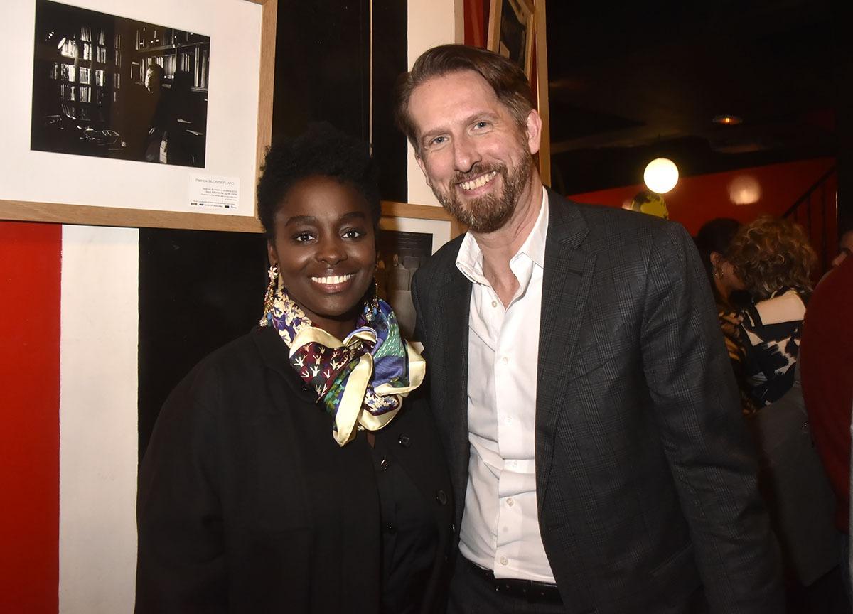 Aissa Maiga adore l'humour baulois de Sam Bobino co-Président du Festival Musique du film de la Baule