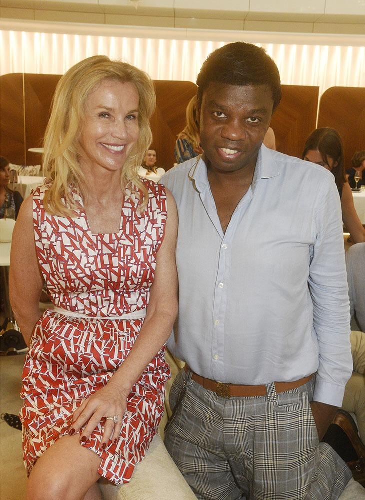Laura Restelli Brizard avec son ami Jean Barthelemy Bokassa