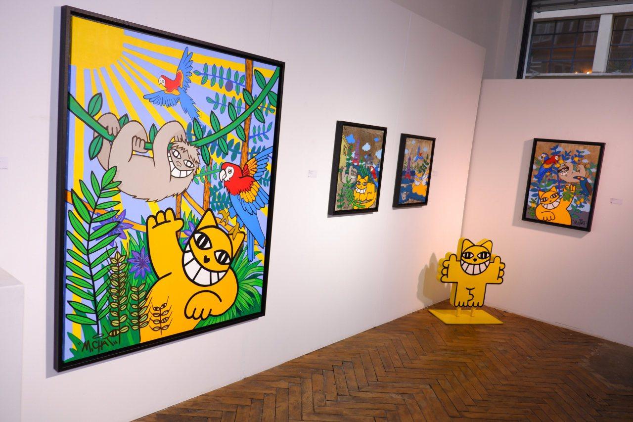 """Expo M chat """" c'est pas le Pérou """" tout le mois de décembre au 40 rue Volta Paris 3 eme."""