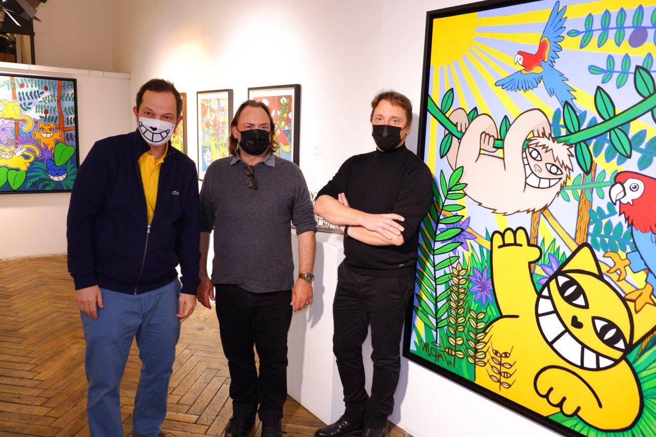 M Chat, Eric et Laurent boss de la galerie Brugier Rigail.